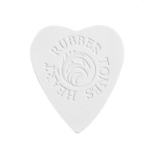 Rubber Tones Heart White Silicone 1 Pick